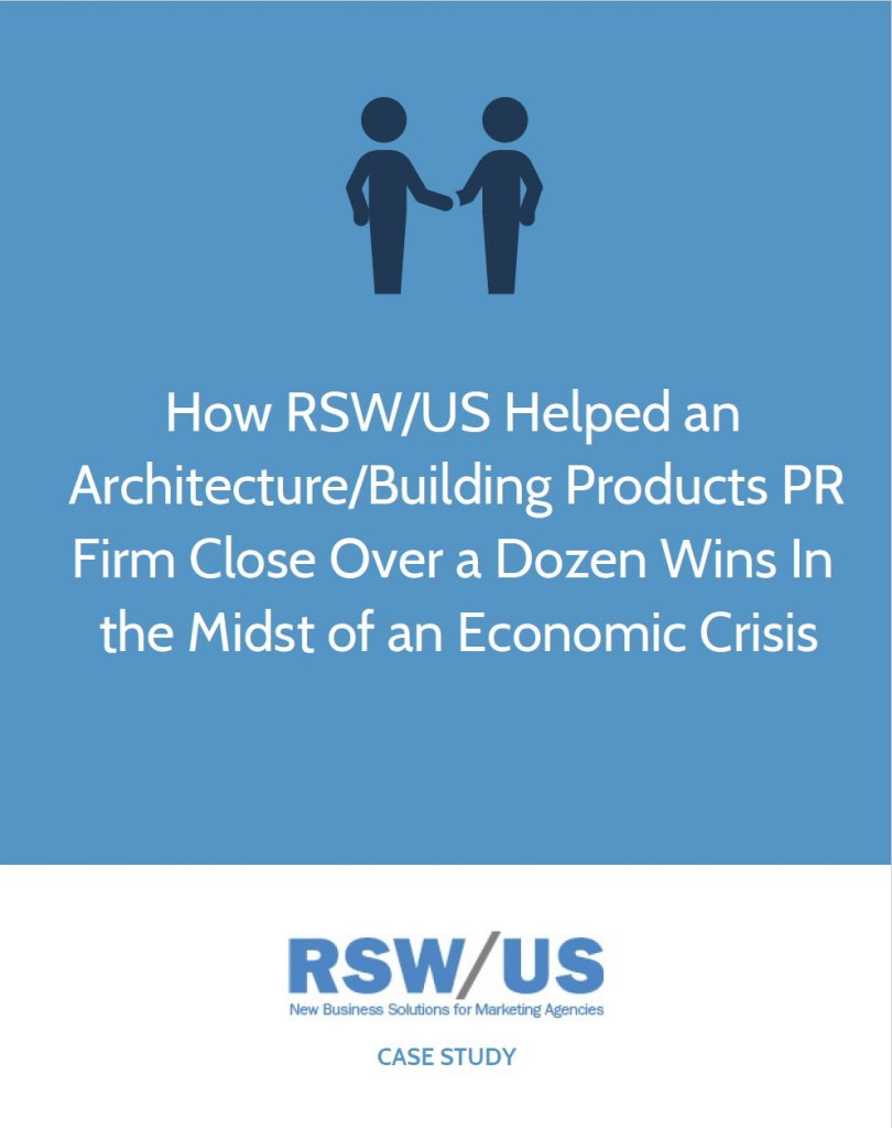 RSW Case Study Architecture-Building Products PR Firm Located in Pennsylvania