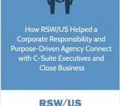 RSW Case Study: Corporate Responsibility-Focused Brand Strategy Agency Located in Washington
