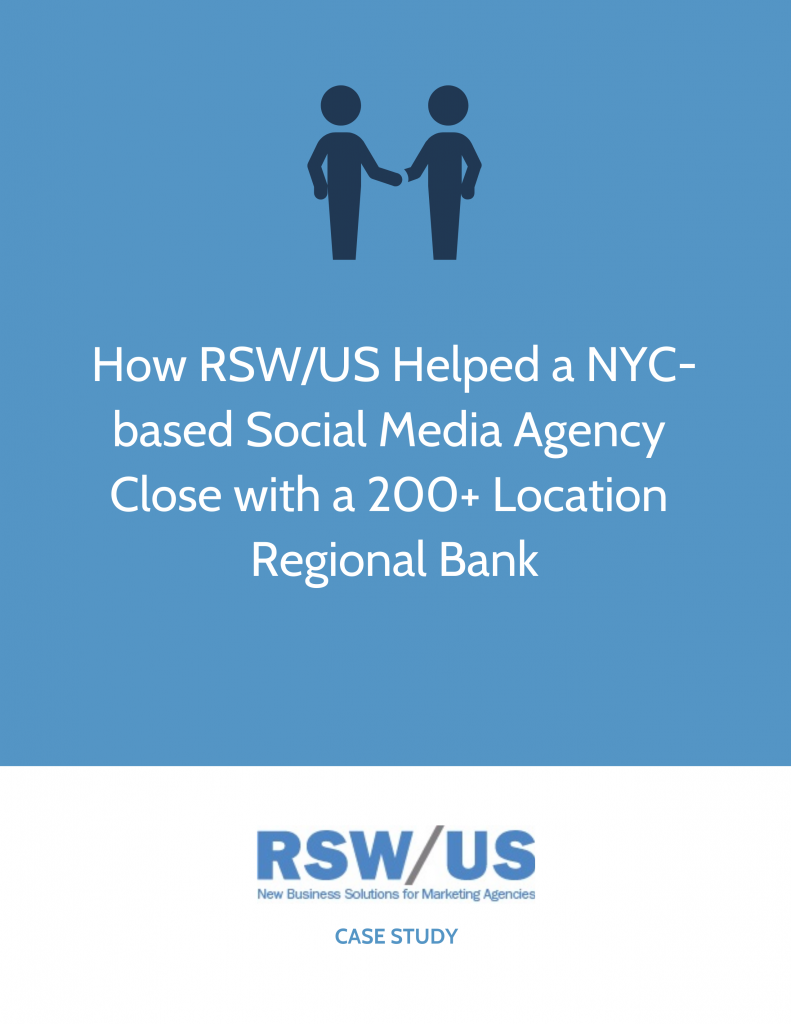 RSW Case Study-Multi-Location Regional Bank Win Social Media Agency Located In New York